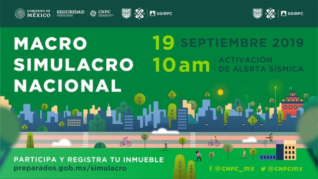 Macro Simulacro Nacional 19 de septiembre 2019, Activación de Alerta Sísmica